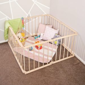 wooden play pen