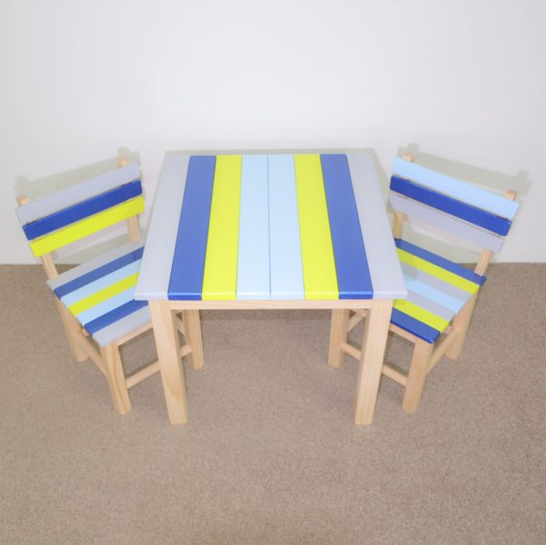 Kids table set with added metallic