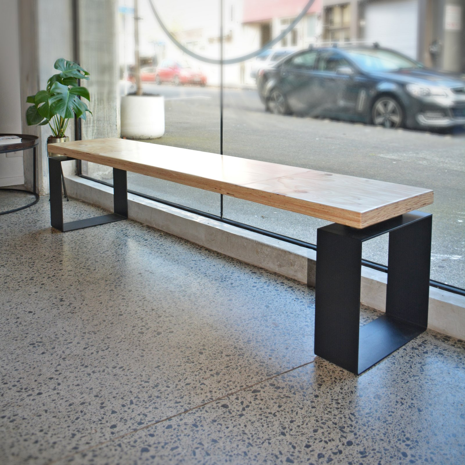 Lvl Industrial Bench Seat Black Sand Furniture